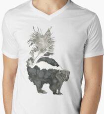 Skunk Painting  Men's V-Neck T-Shirt