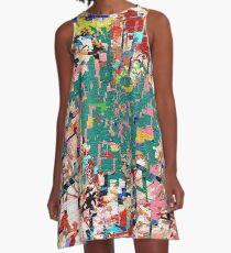 Paper Scrap Abstract Design A-Line Dress