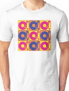 Vinyl Record Turntable Pop Art 3 Unisex T-Shirt