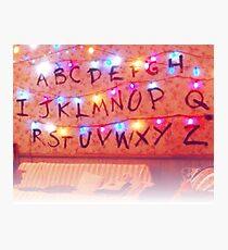 STRANGER THINGS ALPHABET LIGHTS Photographic Print