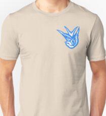 Swallow Tattoo Flash Logo (blue) Unisex T-Shirt