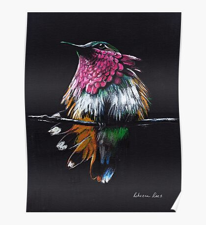 """""""Jewel""""  Amethyst-Throated mixed media painting Poster"""