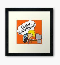 Code! Code! Code! Framed Print