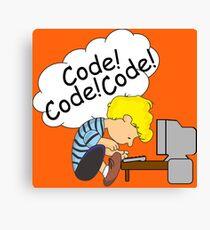 Code! Code! Code! Canvas Print