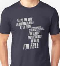 The Fast And The Furious - I Live My life Slim Fit T-Shirt