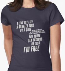 The Fast And The Furious - I Live My life Women's Fitted T-Shirt