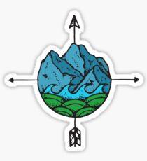 Mountain Compass Sticker