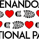 HIKING SHENANDOAH NATIONAL PARK LOVE TO HIKE BOOTS AND HEARTS by MyHandmadeSigns