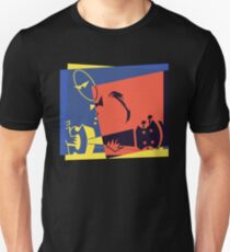 Pop Art Jazz Guitar Player Unisex T-Shirt