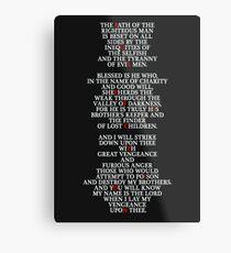 Pulp Fiction - Ezekiel 25:17 Metal Print