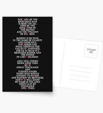 Pulp Fiction - Ezekiel 25:17 Postcards