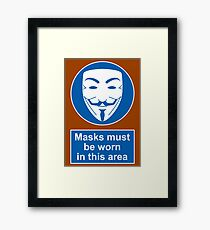 Health And Safety In An Alternate Future Totalitarian State Framed Print