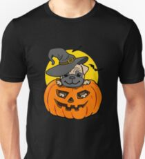 Funny Halloween cartoon pug Unisex T-Shirt