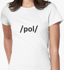 /pol/ 4chan Internet Politically Incorrect Womens Fitted T-Shirt