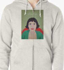 Amelie illustration Sudadera con capucha y cremallera