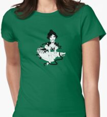 Pinup Tightrope Girl - Haunted Mansion Womens Fitted T-Shirt