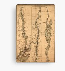 Map Of The Hudson River 1777 Canvas Print