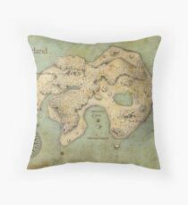 Peter Pan Neverland Map Throw Pillow