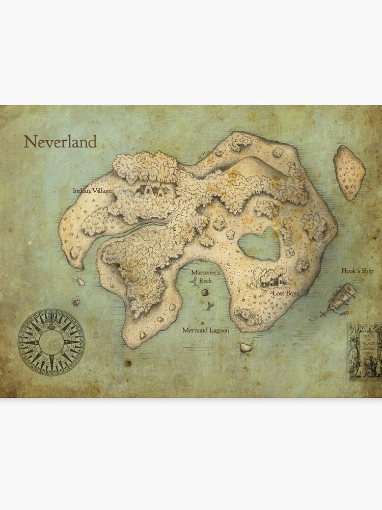 Peter Pan Neverland Map | Canvas Print on drawing map, marine map, north atlantic drift map, denim map, disney channel map, wax map, metallic map, laminated map, geographix map, string map, graphic map, world map, exalted map, middle bay lighthouse map, solid map, calculating map, tarp map, wallpaper map, design your own map, styrofoam map,