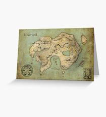Peter Pan Neverland Map Greeting Card