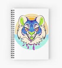 Tiger Vaporwave Spiral Notebook
