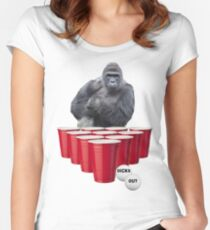 Harambe Beer Pong Women's Fitted Scoop T-Shirt