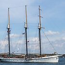 Tall Ships on the St. Lawrence by Josef Pittner