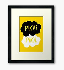 Pika in our stars Framed Print