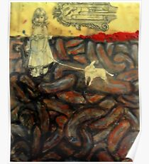 Untitled, encaustic on board Poster