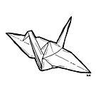 paper crane by kachweena
