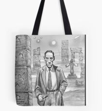 HP Lovecraft - Explorer of Strange Worlds Tote Bag
