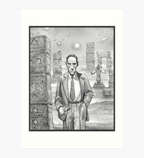 HP Lovecraft - Explorer of Strange Worlds Art Print