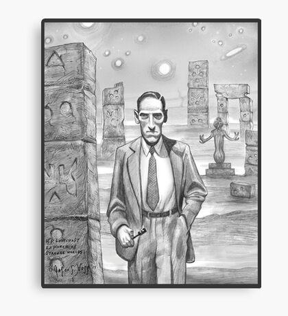 HP Lovecraft - Explorer of Strange Worlds Canvas Print