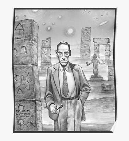 HP Lovecraft - Explorer of Strange Worlds Poster