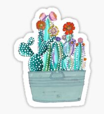 Colored Callous Cacti Sticker