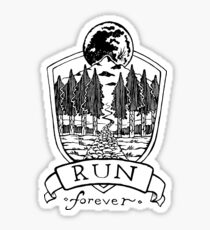 Run Forever - Moon Emblem  Sticker