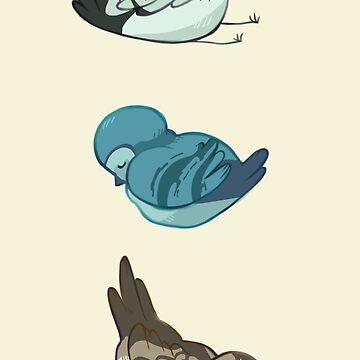 Three Little Birds by arcadechan