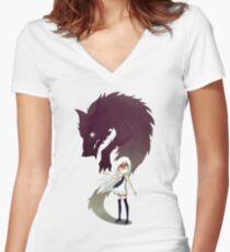 Werewolf Women's Fitted V-Neck T-Shirt