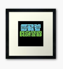 Matthew Fry Irony Arts Framed Print