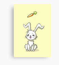Bunny Carrot Canvas Print