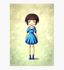 Girl in Blue Photographic Print