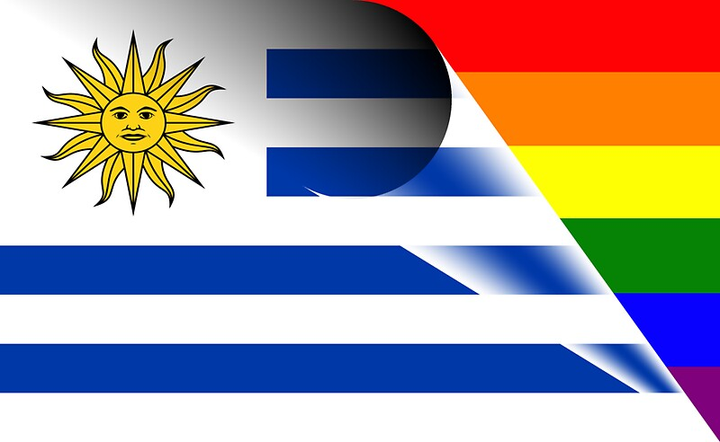 Uruguay flag gay pride rainbow flag by bigbadbear