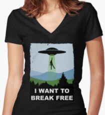 I Want to Break Free - Freddie Returns to Mercury Women's Fitted V-Neck T-Shirt
