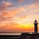 Sunrise from Whitby Pier by Robin Whalley