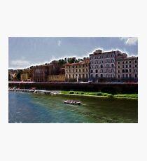 Florence Travel Destination Tuscany River Photographic Print