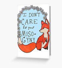 Feminist Fox Greeting Card