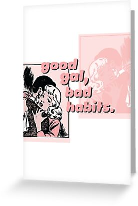 Good gal bad habits pink aesthetic tumblr style greeting cards good gal bad habits pink aesthetic tumblr style m4hsunfo