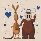 Kangaroo & Bull love by Dulcina