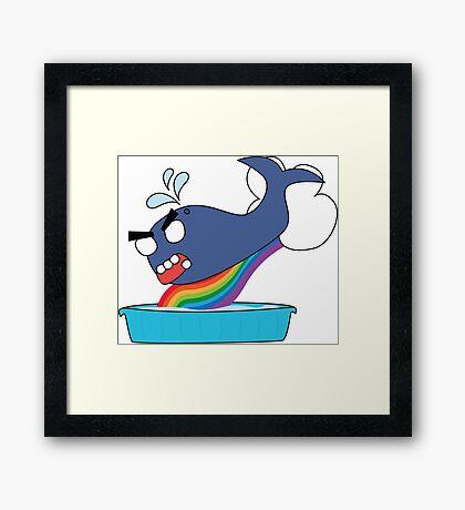 angry zombie whale vs kiddie pool Framed Print