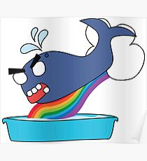 angry zombie whale vs kiddie pool Poster